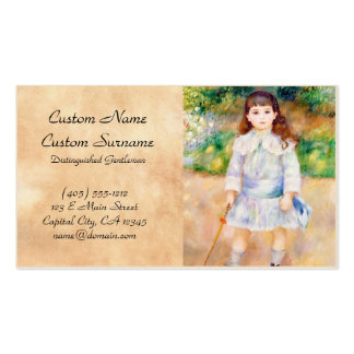 Child with a Whip Pierre Auguste Renoir painting Pack Of Standard Business Cards