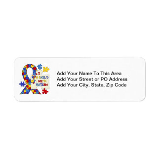 Child With Autism Awareness Ribbon