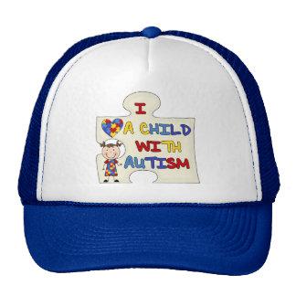Child WIth Autism Brunette Girl 2 Cap