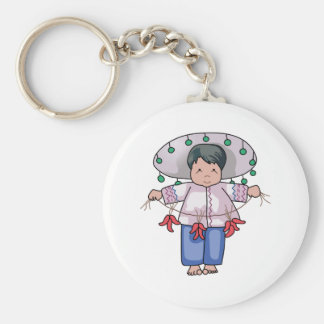 CHILD WITH CHILI PEPPERS KEYCHAIN