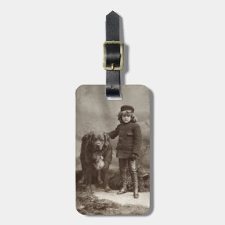 Child With Dog, C1885 Luggage Tag