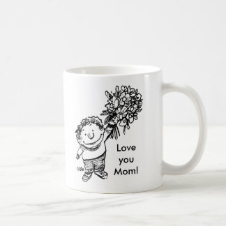 child with flowers, child with flowers, Love yo... Coffee Mug