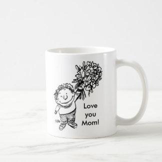 child with flowers, child with flowers, Love yo... Mug