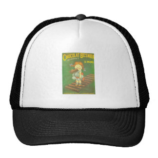 Child with large chocolate bAR French vintage ads Mesh Hat