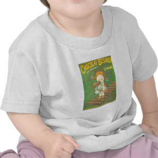 Child with large chocolate bAR French vintage ads Tee Shirt
