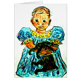 Child With Rabbit Card