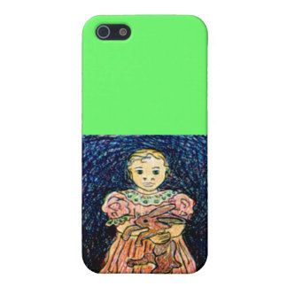 Child with Rabbit Case For iPhone 5/5S