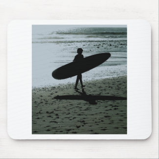 Child with surfboard mouse pad