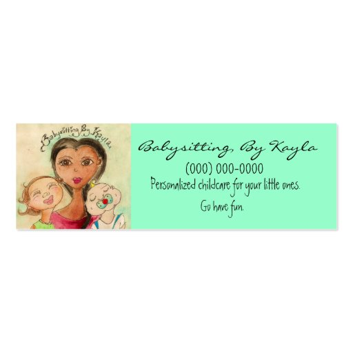 Childcare/Babysitting Card Business Card Template