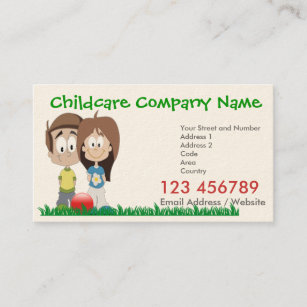 Calendar business cards zazzle uk childcare business card with 2016 calendar reheart Choice Image