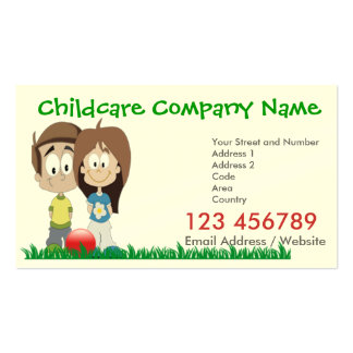 Childcare - Business Card with 2016 Calendar