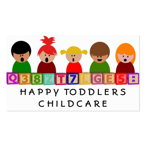 Childcare, Kindergarten Business Card Templates