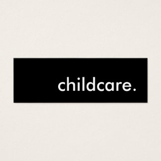 childcare. mini business card