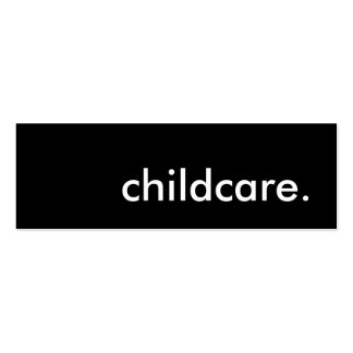 childcare. pack of skinny business cards