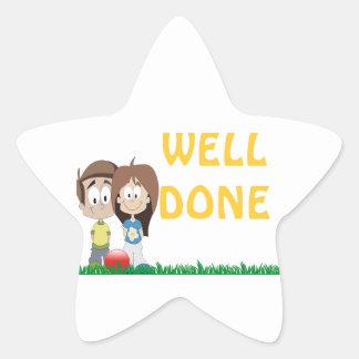 Childcare - Summer Camp - School Business Theme Star Sticker