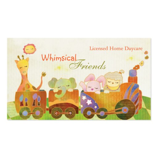 ChildcareProviders, BabySitters, Daycare Business Business Card Templates