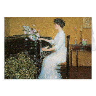 Childe Hassam - At the piano Greeting Card