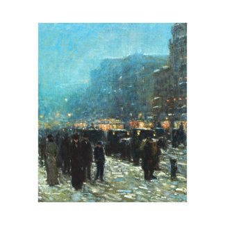 Childe Hassam Broadway and 42nd Street Canvas Print