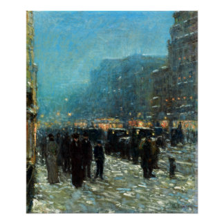 Childe Hassam Broadway and 42nd Street Poster