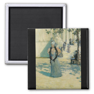 Childe Hassam - Characters in the sunlight Refrigerator Magnet