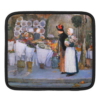 Childe Hassam - Florists iPad Sleeve
