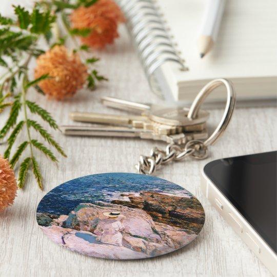 Childe Hassam - South Ledges Appledore Basic Round Button Key Ring