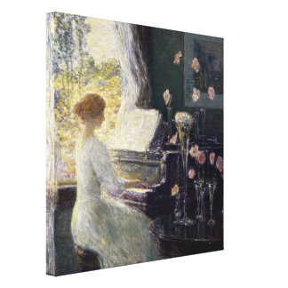 Childe Hassam - The Sonata Stretched Canvas Print