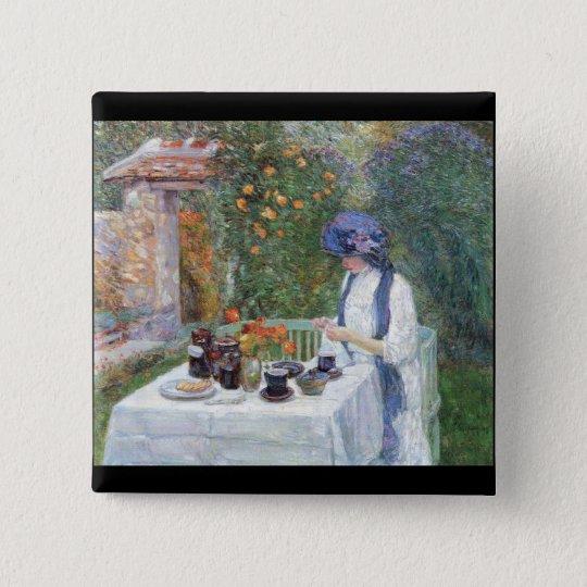 Childe Hassam - The Terre-Cuits Tea Set 15 Cm Square Badge