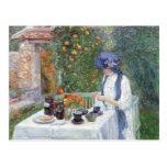 Childe Hassam - The Terre-Cuits Tea Set Postcard