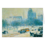 Childe Hassam - Winter in Union Square Greeting Cards