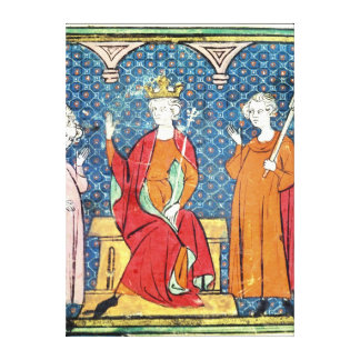 Childeric II , Merovingian King of Austrasia Canvas Print