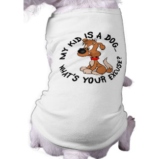 Childfree Dog Owner Vs Parents with Bad Kids Sleeveless Dog Shirt