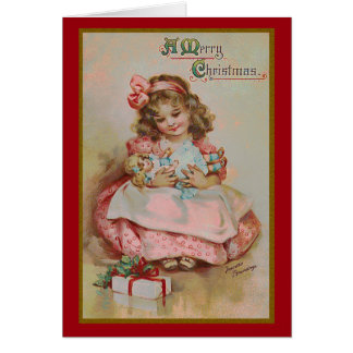 Childhood at Christmas Greeting Card