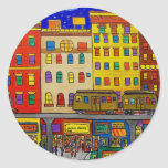 Childhood Bronx 6 by Piliero Round Sticker
