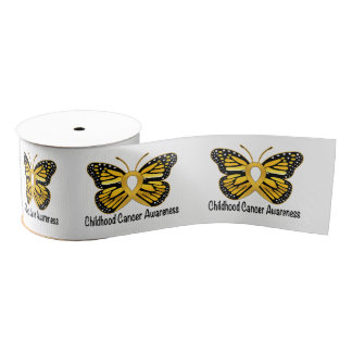 "Childhood Cancer 3"" Grosgrain Ribbon"