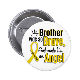 Childhood Cancer ANGEL 1 Brother 6 Cm Round Badge