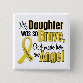 Childhood Cancer ANGEL 1 Daughter 15 Cm Square Badge