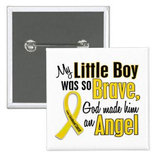 Childhood Cancer ANGEL 1 Little Boy 15 Cm Square Badge