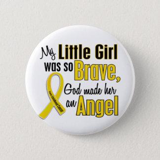 Childhood Cancer ANGEL 1 Little Girl 6 Cm Round Badge