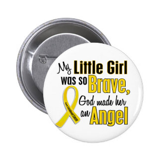 Childhood Cancer ANGEL 1 Little Girl 6 Cm Round Badge