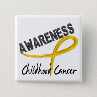 Childhood Cancer Awareness 3 15 Cm Square Badge