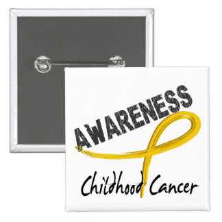Childhood Cancer Awareness 3 15 Cm Square Badge