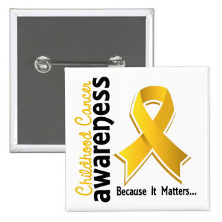 Childhood Cancer Awareness 5 15 Cm Square Badge