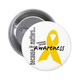 Childhood Cancer Awareness 6 Cm Round Badge