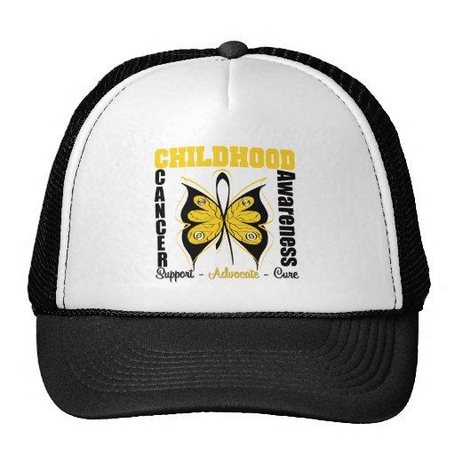 Childhood Cancer Awareness Butterfly Trucker Hats