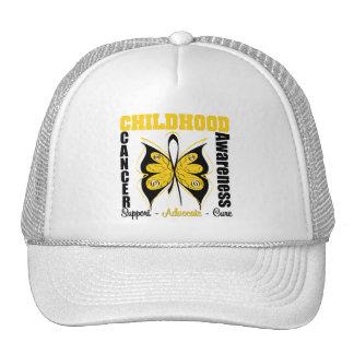 Childhood Cancer Awareness Butterfly Mesh Hats