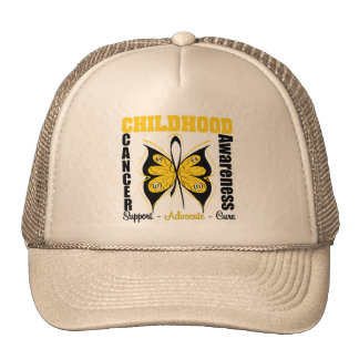 Childhood Cancer Awareness Butterfly Mesh Hat