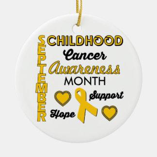 Childhood Cancer Awareness Christmas Ornament