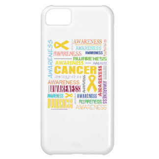 Childhood Cancer Awareness Collage iPhone 5C Cases