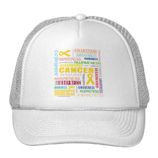 Childhood Cancer Awareness Collage Trucker Hats